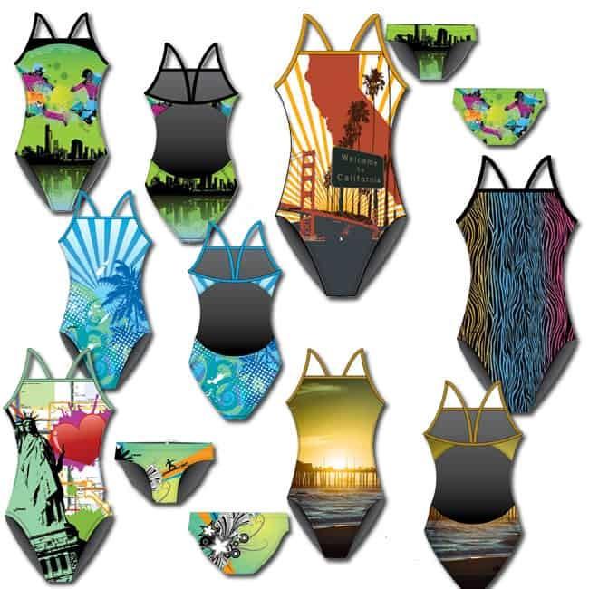 Costumi personalizzati nuoto bellissimi costumi da bagno - Cuffie piscina personalizzate ...